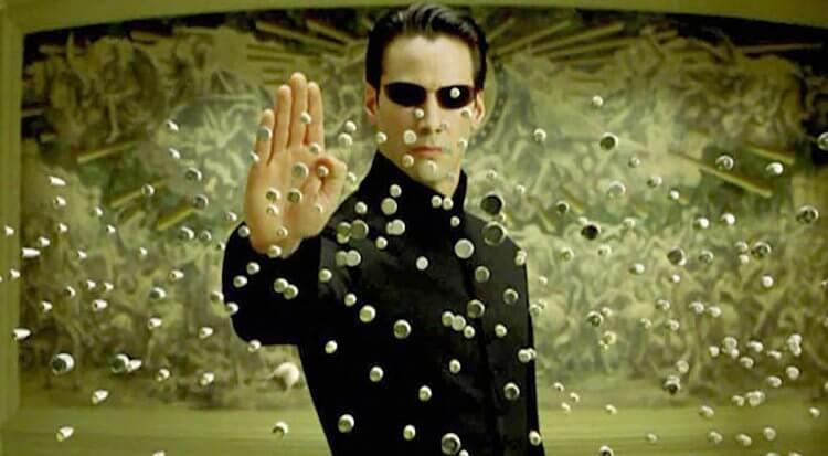 《駭客任務》電影劇照。