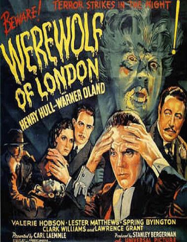 環球在 1935 年推出的「倫敦狼人」(Werewolf of London)
