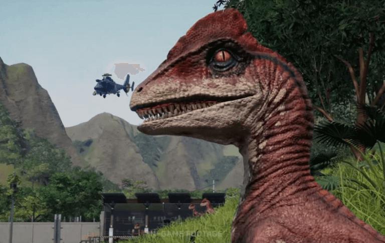 遊戲《侏羅紀世界:進化》中的恐龍。