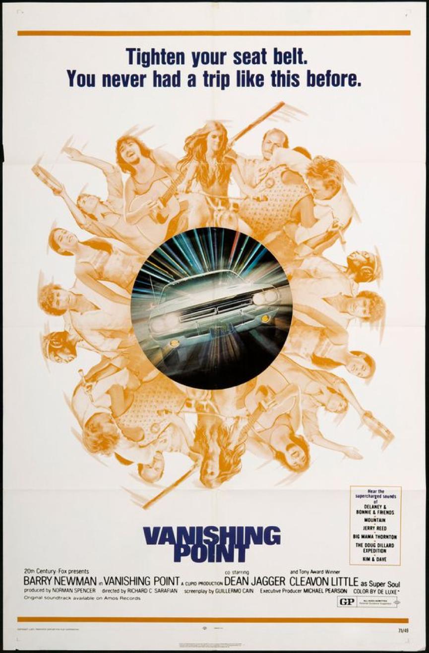 《 消失點 》(Vanishing Point ,台灣藍光片譯為《 極樂狂飆 》,另有《 粉身碎骨 》等譯名) 。