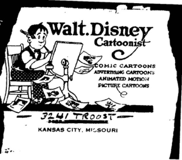 迪士尼動畫公司近百年前的登報廣告。