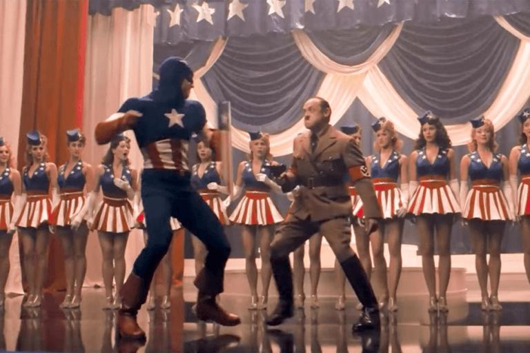 《美國隊長》(Captain America) 劇照,克里斯伊凡對這個達成角色有很高的使命感。