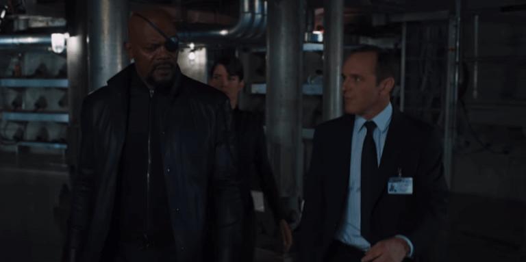 《復仇者聯盟》(The Avengers) 裡的尼克福瑞局長以及考森探員。
