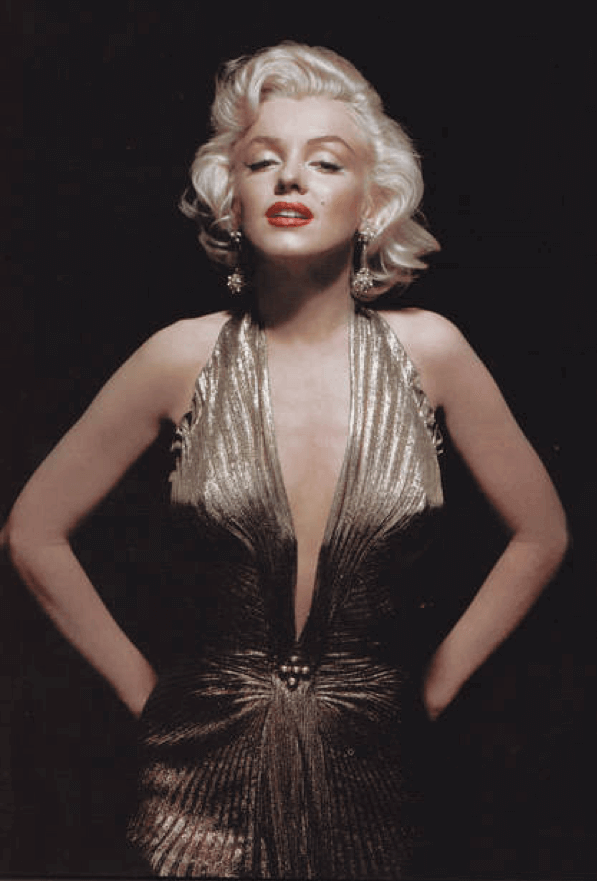 瑪麗蓮夢露在《紳士愛美人》裡著名的金洋裝