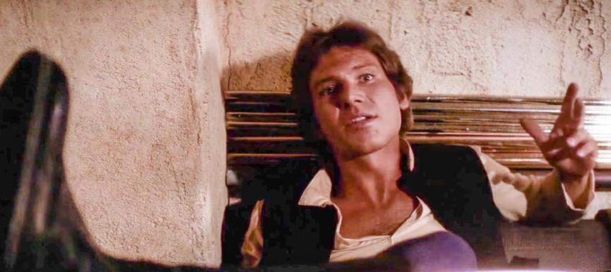 1977年《 星際大戰 》電影中的 韓索羅