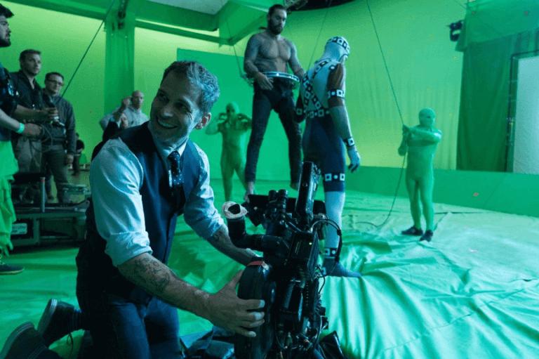 導演查克史奈德在《正義聯盟》片場。