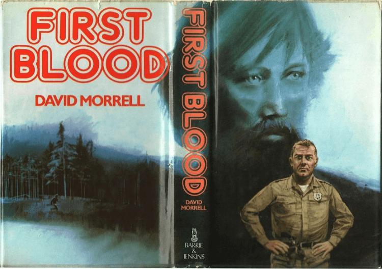 大衛莫瑞爾所創作的「藍波」小說:《第一滴血》原著小說封面。