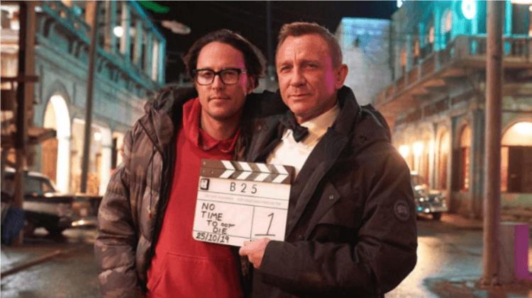 經典諜報電影系列之《007:生死交戰》開鏡時的導演凱瑞福永(左)與丹尼爾克雷格(右)。