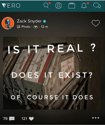 史奈德在社群媒體上證實。