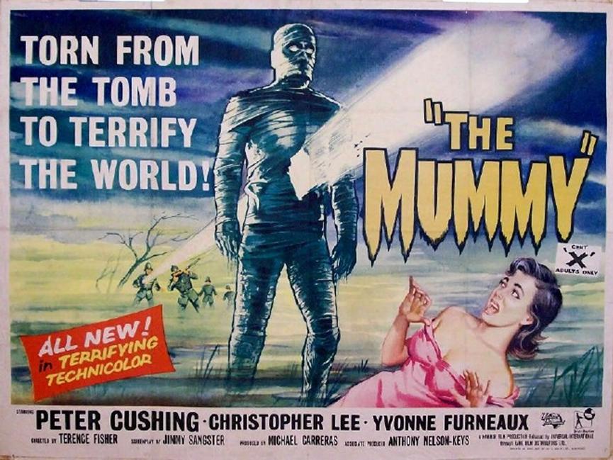當年的《 木乃伊 》 電影海報 。