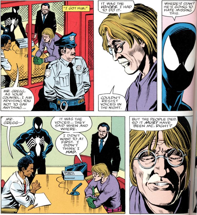 漫畫中,艾迪因為假新聞被報社開除的起因......。