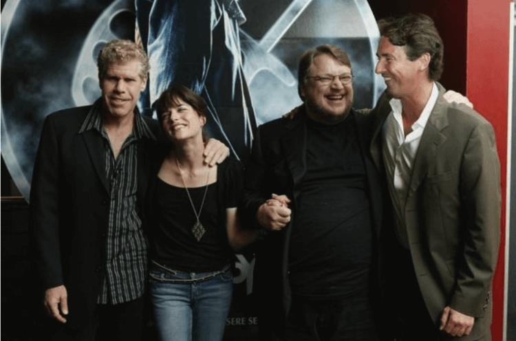 戴托羅與《地獄怪客》男女主角朗普曼與莎瑪布萊兒。
