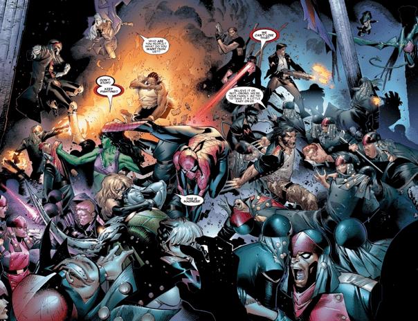 慢威漫畫《House of M》篇章中,為了將緋紅女巫能力打造的夢想烏托邦恢復原狀,超級英雄們襲擊萬馬克莫夫一家。