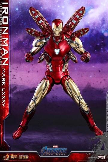 《復仇者聯盟:終局之戰》鋼鐵人公仔玩具,名為「MARK LXXXV」的全新裝甲。