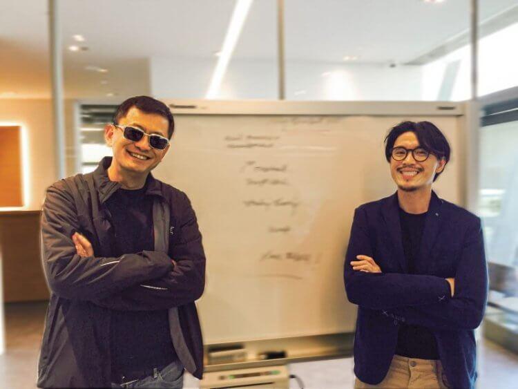 擔任電影《一杯上路》監製工作的王家衛與本片導演納塔吾彭皮里亞。