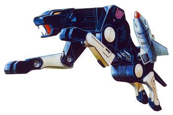 《變形金剛》系列中「聲波」的獵豹手下「破壞」。