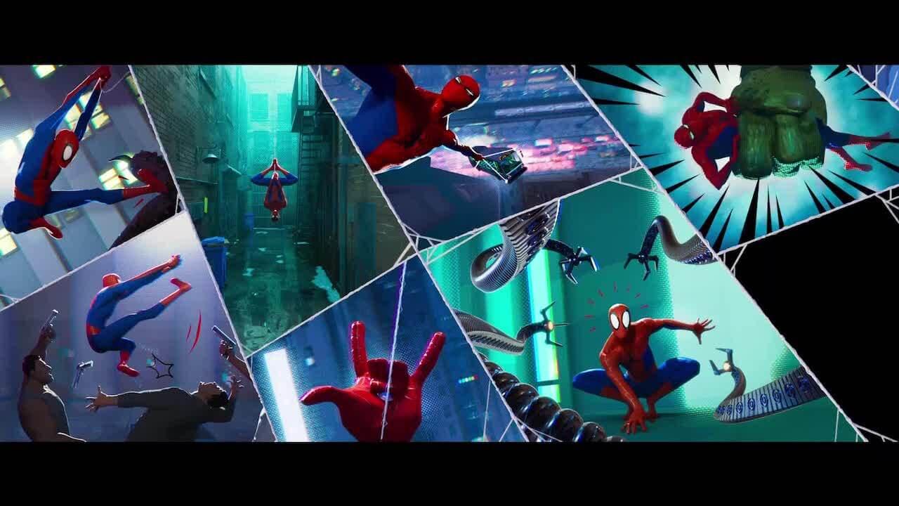 將不同漫畫宇宙中的蜘蛛人齊聚一堂,索尼影業所推出的動畫長片《蜘蛛人:新宇宙》。