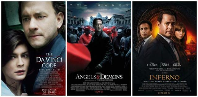 朗霍華執導、由暢銷作家丹布朗著作改編的《達文西密碼》、《天使與魔鬼》以及《地獄》紅極一時。