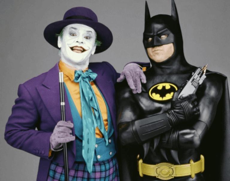 1989 年《蝙蝠俠》米高基頓和經典小丑:傑克尼克遜。
