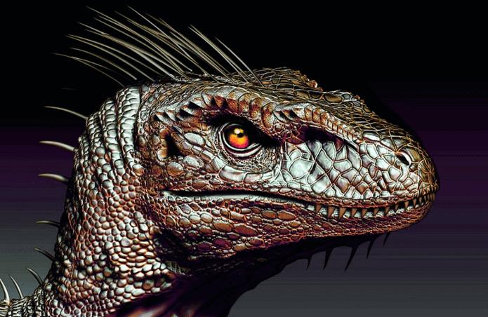 為了滿足人類私慾所改良出的基改恐龍(範例)。