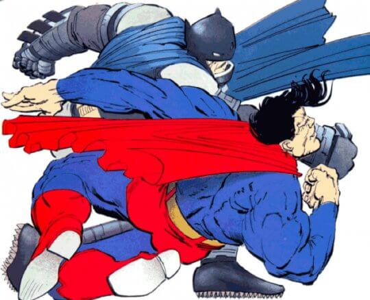 超人大戰蝙蝠俠。