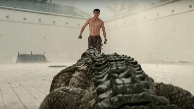2018 年的泰國鱷魚恐怖片《一池到底》(The Pool) 劇照。