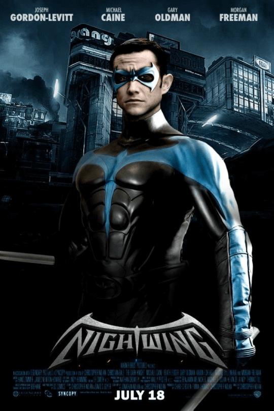粉絲製作高登李維主演《夜翼》電影海報。