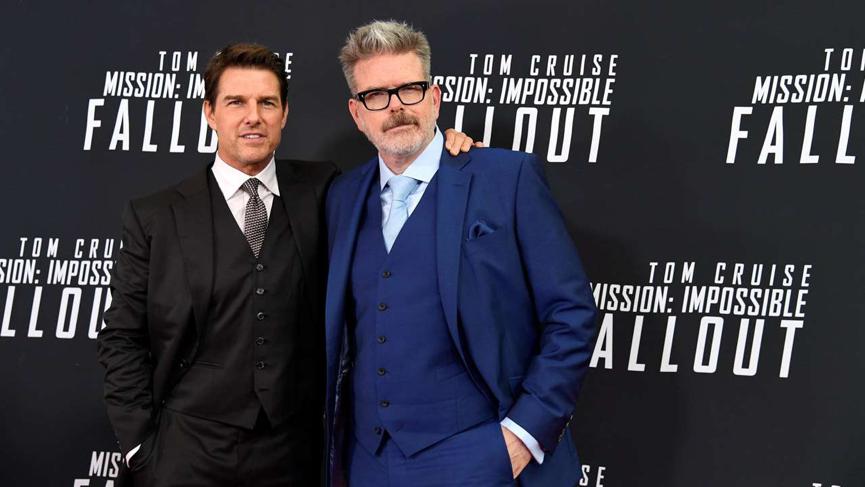 《 不可能的任務 》系列導演 克里斯多福麥奎里 與 湯姆克魯斯 合影。