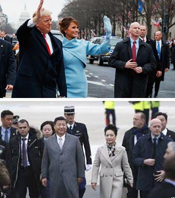 新聞照片中,可見各國元首身旁特勤人員的手部位置都近於腰際以利緊急應變。