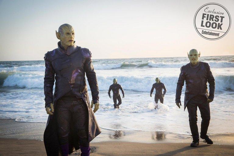 《驚奇隊長》的電影預告片中便能看到史克羅人的蹤影。
