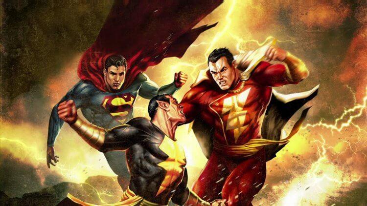 2010 年動畫作品《超人與沙贊之黑亞當歸來》中可見到三大知名漫畫角色同框互鬥。