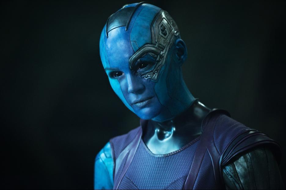 2014 年由詹姆斯岡恩執導的《星際異攻隊》,圖為涅布拉。