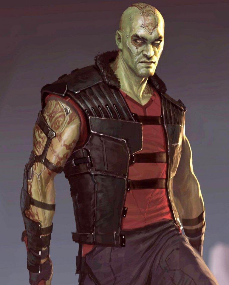 電影《星際異攻隊》中,由溫查理繪製的德克斯人物初稿形象設計。