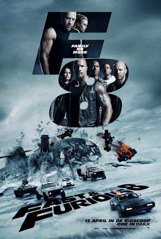 2017 年《玩命關頭 8》電影海報。