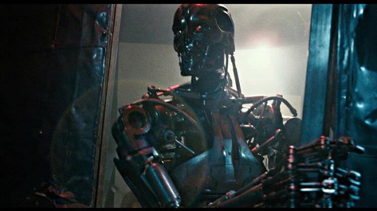 詹姆斯卡麥隆 (James Cameron) 指導的《魔鬼終結者》(Terminator) 。