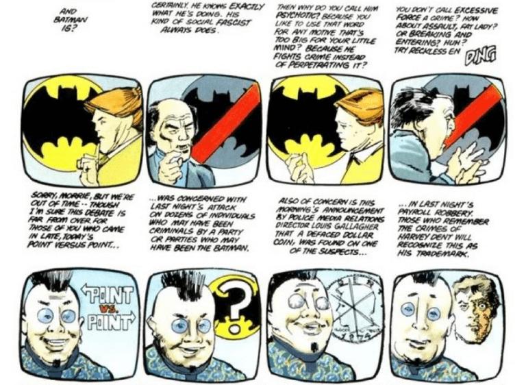 法蘭克米勒漫畫作品《黑暗騎士歸來》。