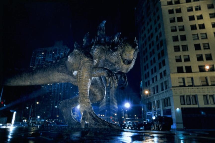 1998年 好萊塢 怪獸災難電影 《 酷斯拉 》劇照。
