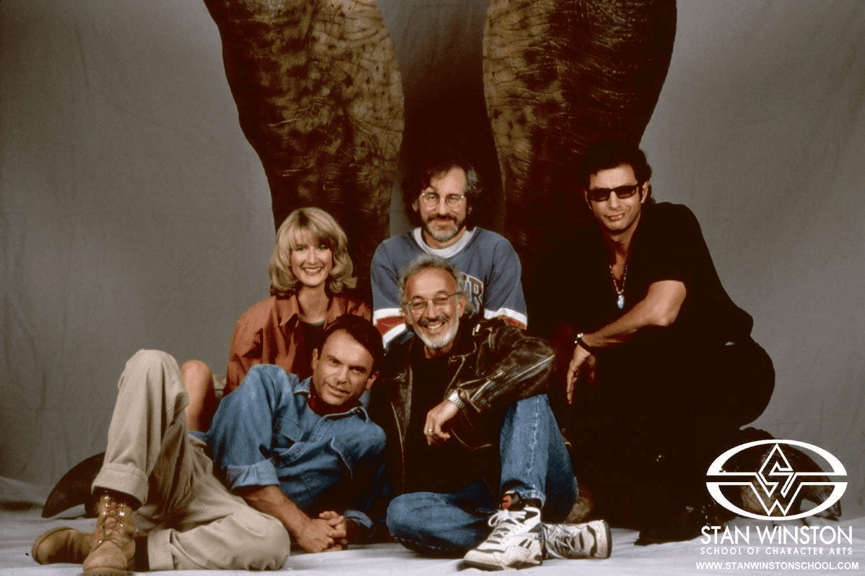 拍攝《侏羅記公園》系列電影時,主要演員們與導演留下的珍貴合影。