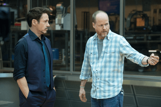 小勞勃道尼 (Robert Downey Jr.) 與喬斯溫登 (Joss Whedon) 。