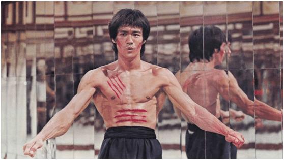 李小龍主演電影《龍爭虎鬥》。