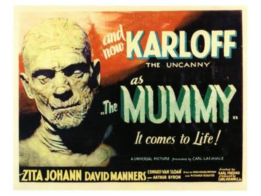 1932 年電影《 木乃伊 》 海報 。