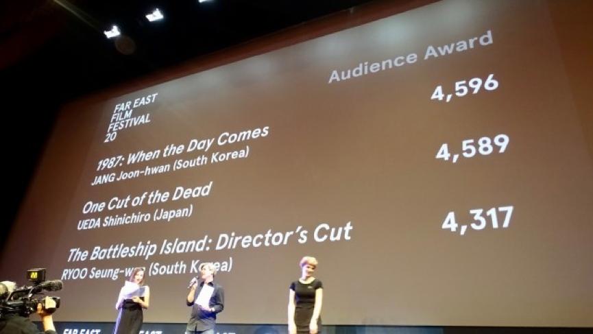 《 一屍到底 》於第 20 屆遠東影展觀眾評選獎,只輸給第一名的《1987:黎明到來的那一天》7 票。