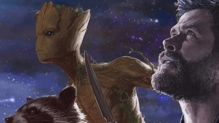 到了《 復仇者聯盟3 : 無限之戰》電影中,格魯特 和 火箭浣熊 雷神索爾 一同尋找索爾的新武器