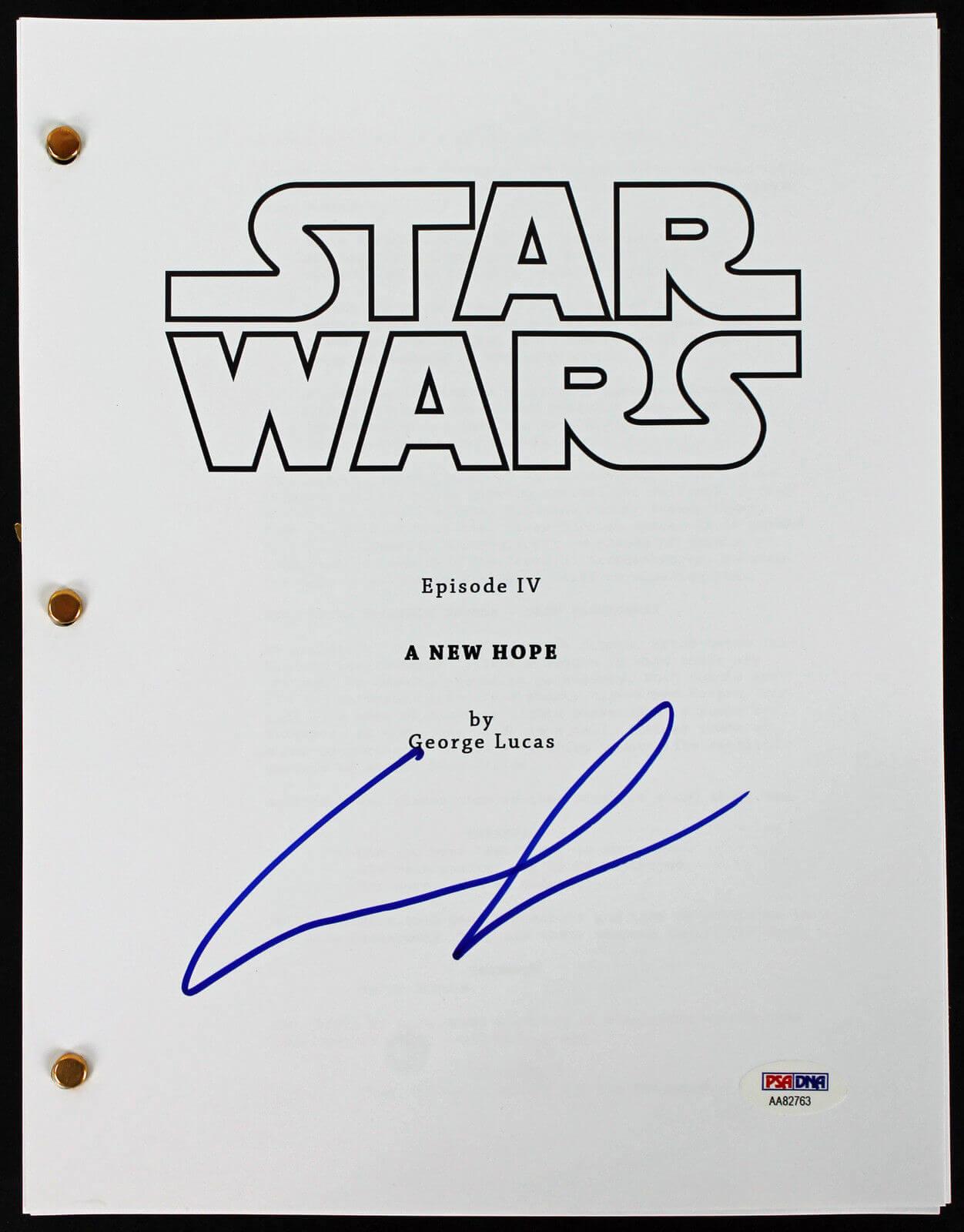 當年《星際大戰四部曲:曙光乍現》的腳本。