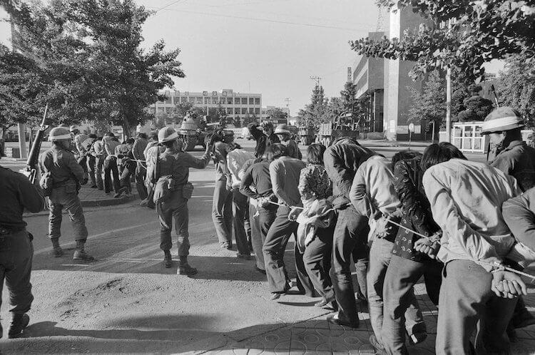 「光州民主化運動」歷史照片。