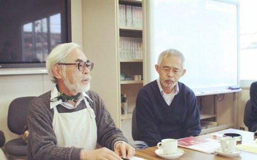 宮崎駿與製作人鈴木敏夫