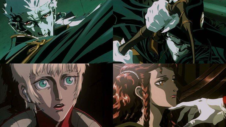 動畫電影《吸血鬼獵人 D》劇照。