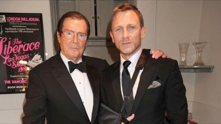 羅傑摩爾 (Roger Moore) 與丹尼爾克雷格 (Daniel Craig) 。