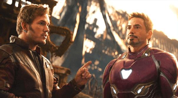 漫威電影宇宙中,《星際異攻隊》星爵和《鋼鐵人》東尼史塔克在《復仇者聯盟 3:無限之戰》中碰面。