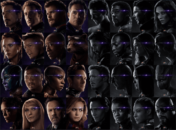 《復仇者聯盟 4:終局之戰》「Avenge the Fallen」主題角色個人海報,很可惜的,洛基在殞落的那一方。